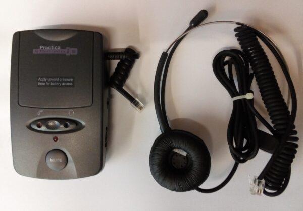 Headset Modelo A-100 con amplificador