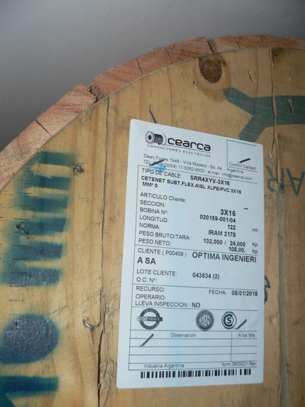 Cable Subterráneo 3x16