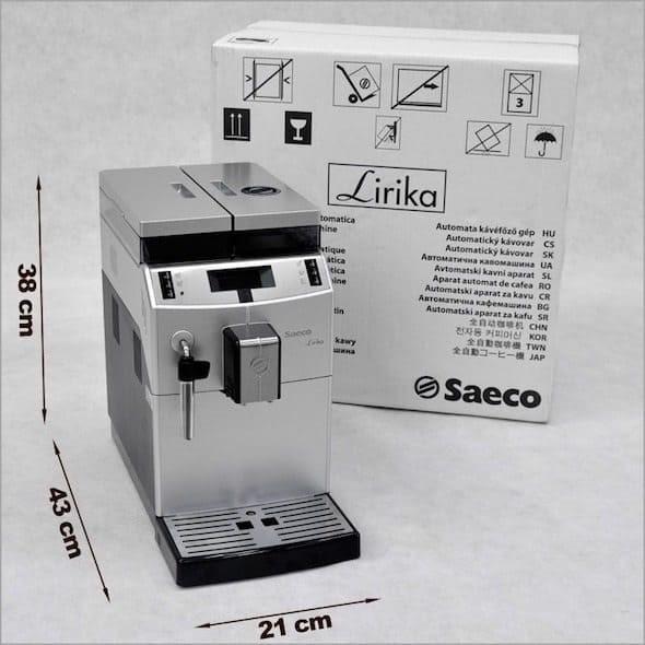 Dimensiones SAECO Lirika